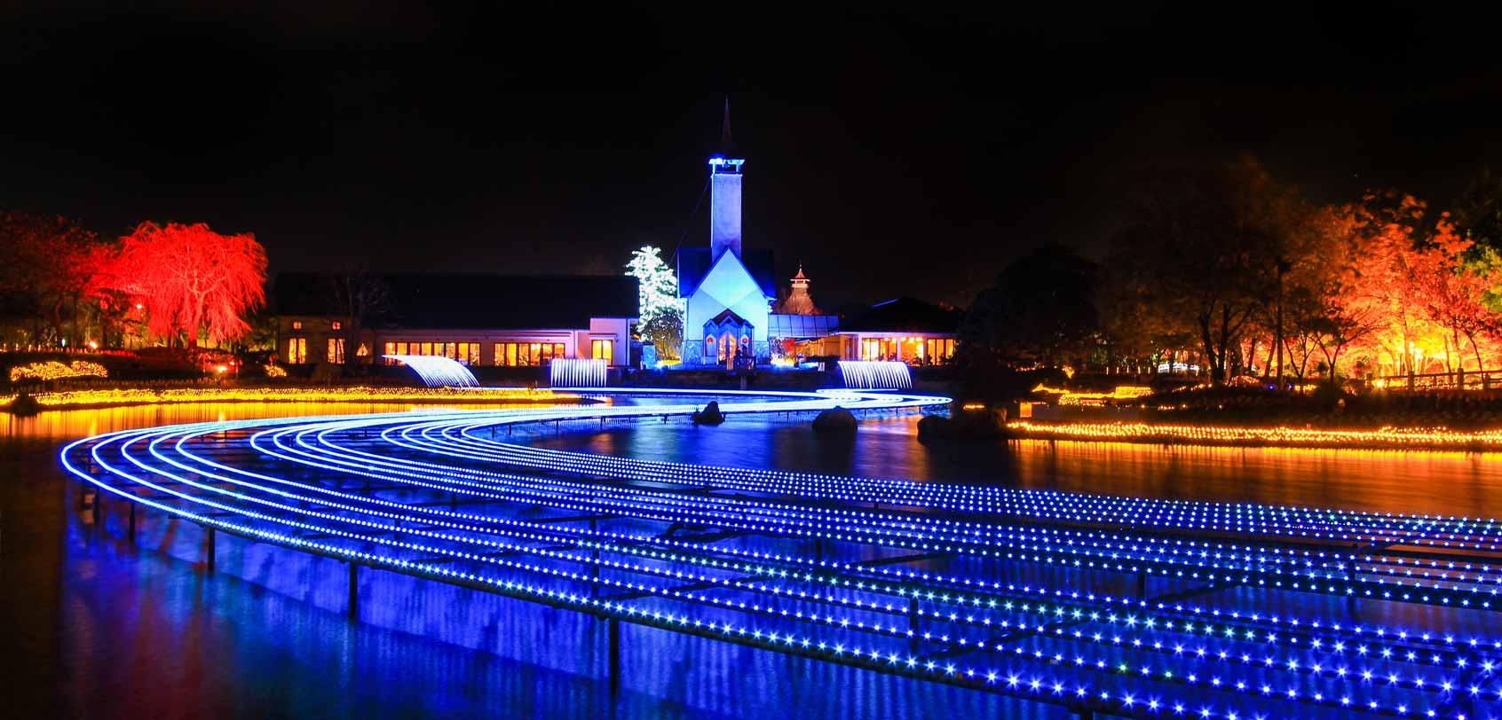 纳巴纳之里冬季照明与花卉公园