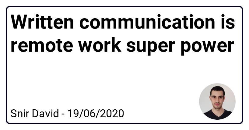 书面通讯是远程工作的超级力量