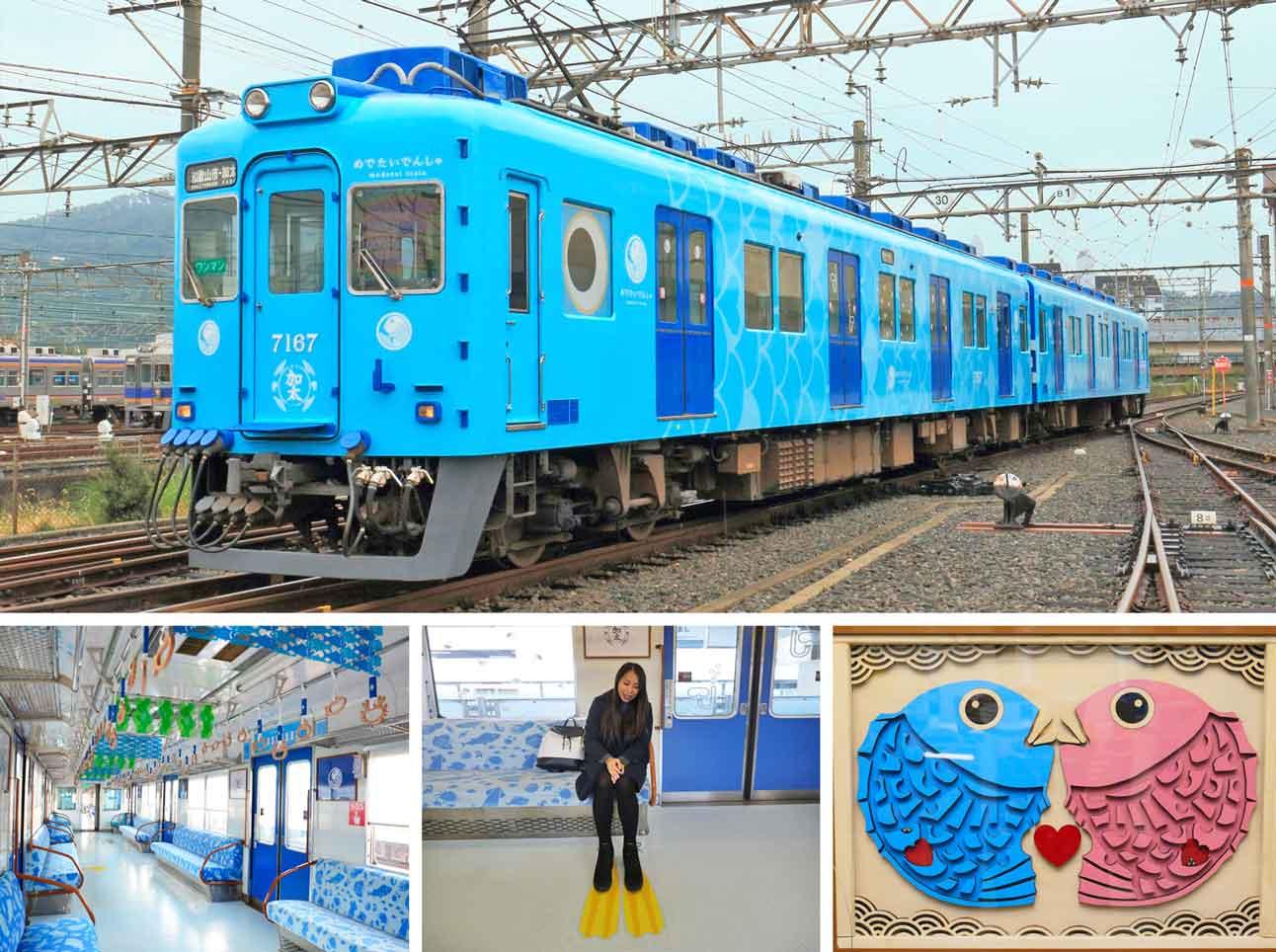 观光Medetai火车:鹿田坂线