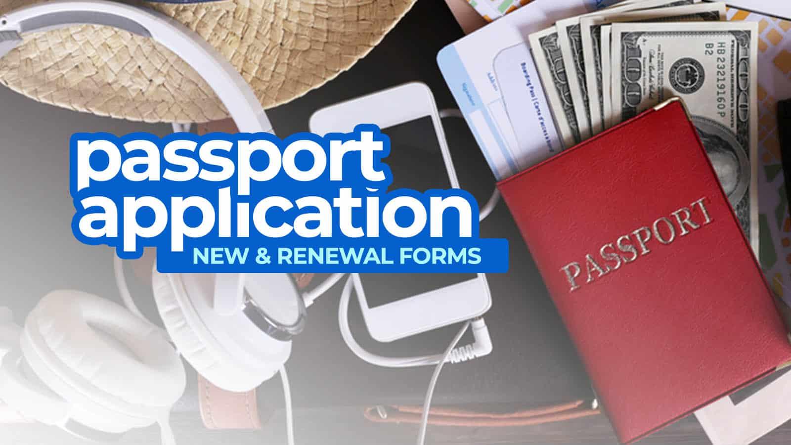 菲律宾的护照申请表格。新的和更新的护照   穷游者的行程安排博客