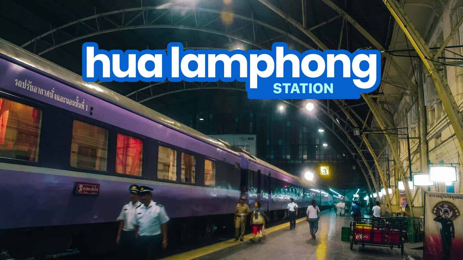 华兰蓬站是曼谷的主要火车站,由泰国国家铁路公司经营和管理,连接首都和远方的地区。
