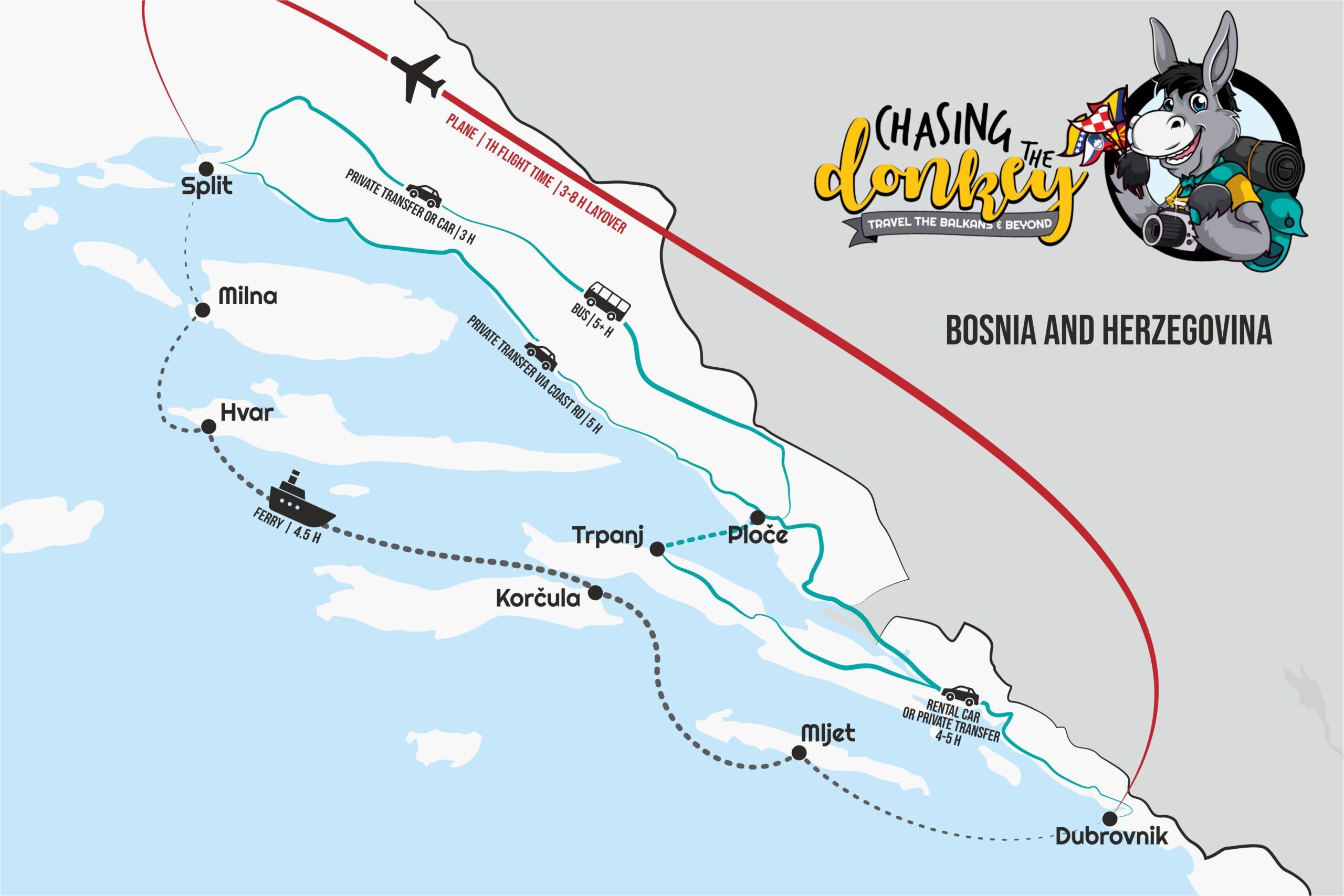 2021年从斯普利特去杜布罗夫尼克和从杜布罗夫尼克去斯普利特的指南 | 追驴网
