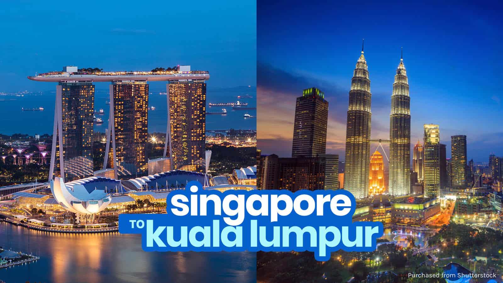 新加坡到吉隆坡的巴士或火车:越过边境   穷游者的行程博客