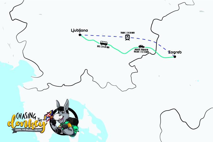 从萨格勒布到卢布尔雅那到萨格勒布怎么走 2021年