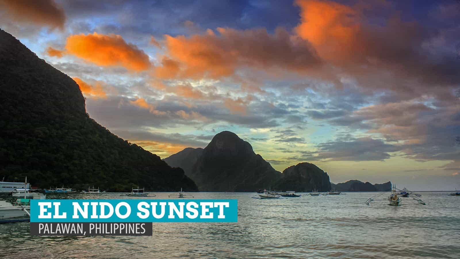 巴拉望岛艾尔尼多的日落漫步   穷游者的行程博客