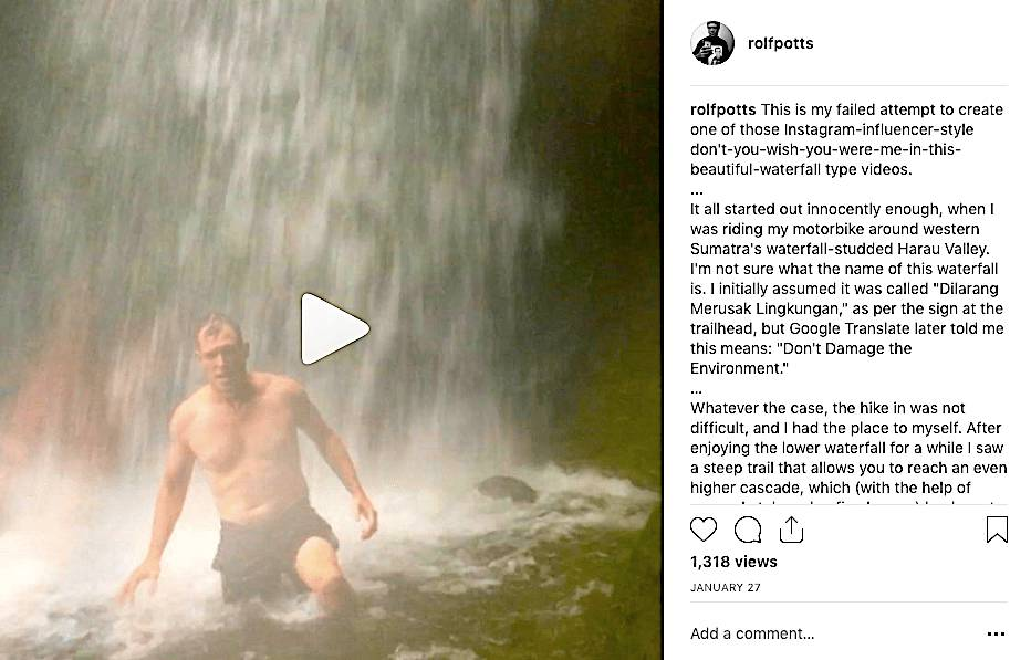 这就是instagram-influencer类型的瀑布自拍出错时的情况 – 罗夫-波茨