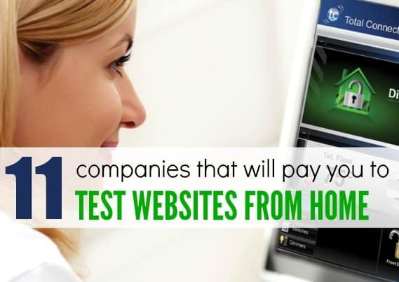 最佳的12家支付给你在家测试网站的公司