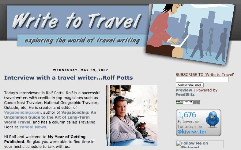 关于专业旅游作家生活的6个答案 – 罗夫-波茨