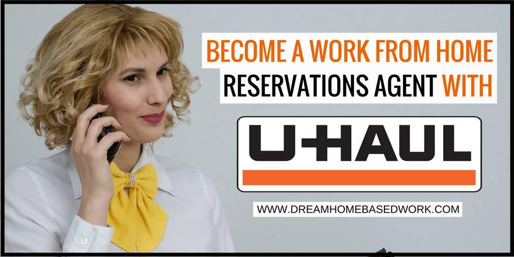成为U-haul的在家工作的预订代理人